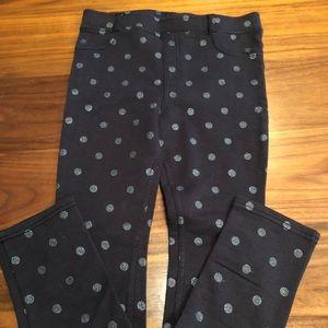 H&M Navy Jeggings polka dot glitter size 9-10